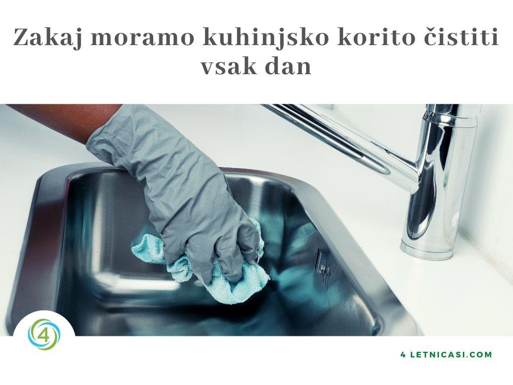 Kako očistiti pomivalno korito z naravnimi čistili
